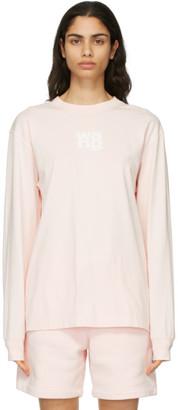 Alexander Wang Pink Puff Logo Long Sleeve T-Shirt