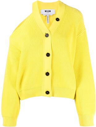 MSGM Cut-Out Cotton Cardigan