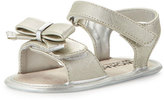 MICHAEL Michael Kors Joy Kiera Faux-Leather Sandal, Silver, Infant