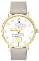Kate Spade Women's 'Metro' Leather Strap Watch, 34Mm