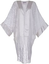 Roses Are Red Lille Silk & Lace Kimono In White