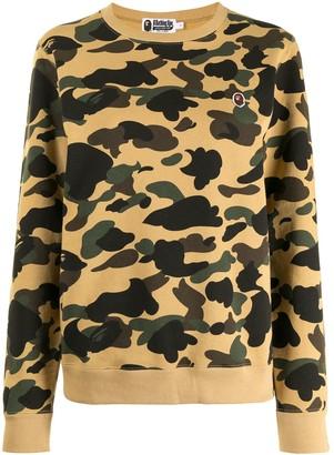 A Bathing Ape Camouflage-Print Sweatshirt