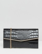 French Connection Gift Boxed Cross Body Bag In Mock Croc