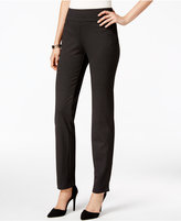 Charter Club Cambridge Ponte Dot-Print Slim-Leg Pants, Only at Macy's