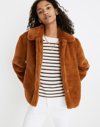 Madewell Faux-Fur Crop Coat