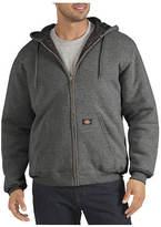 Dickies Men's Quilted Fleece Full Zip Hoody