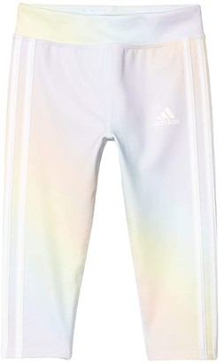 Adidas Originals Kids Iridescence Print 7/8 Tights (Toddler/Little Kids) (Light Blue) Girl's Casual Pants