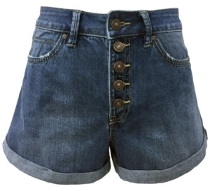 Rewash Juniors High-Waisted Mom Shorts