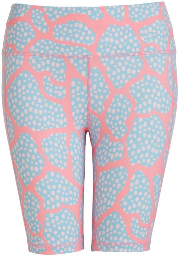 Perky Peach - Pink Dotty Cycling Shorts