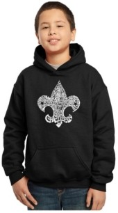 La Pop Art Boy's Word Art Hoodies - 12 Points of Scout Law