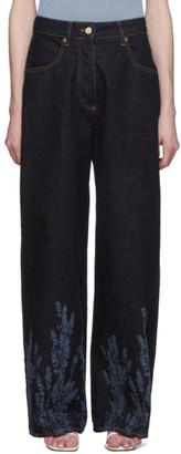 Jacquemus Navy Le Jean De Nimes Jeans