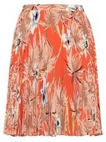 Valentino mytheresa.com online exclusive printed pleated silk miniskirt