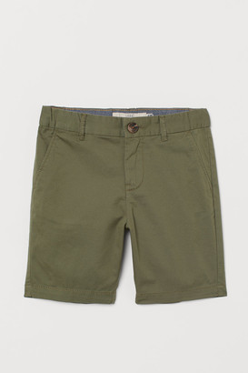 H&M Cotton Chino Shorts - Green
