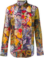 Roberto Cavalli Patchwork print shirt - men - Cotton - 42