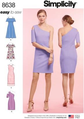 Simplicity Women's Dress Sewing Pattern, 8638