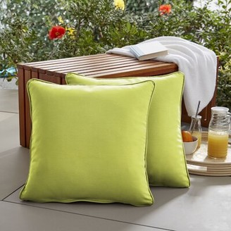 "Bayou Breeze Keila Parrish Indoor/Outdoor Throw Pillow Size: 18"" H x 18"" W x 6"" D"