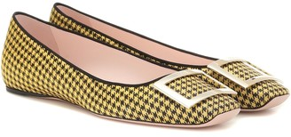 Roger Vivier Exclusive to Mytheresa Trompette houndstooth ballet flats