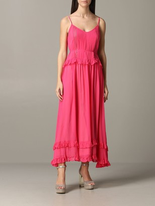 Twin-Set Long Dress With Ruffles