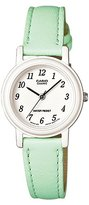 Casio Women's Light Green Genuine Leather Analog Watch LQ139L-3B