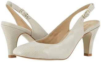 Walking Cradles Margo (Black Patent Lizard Print Leather) Women's Shoes