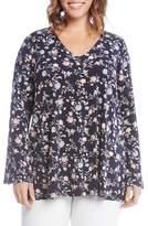 Karen Kane Kane Kane Bell Sleeve Floral Top