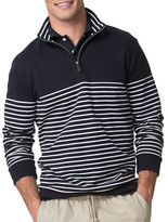 Chaps Striped Quarter Zip Pullover