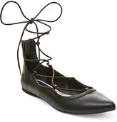 Madden-Girl Edgyyy Tie Up Flats