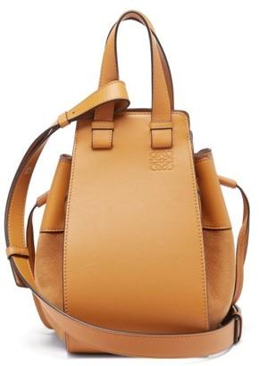 Loewe Hammock Small Leather Tote Bag - Tan