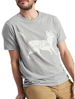 Joules Graphic Fox Cotton T-shirt, Grey