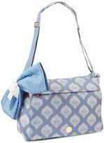 Mud Pie Bundle of Joy Jaipur Messenger Diaper Bag in Blue