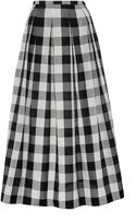 Rochas Silk Gingham A-Line Skirt