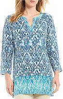 Sigrid Olsen Signature Ikat Print Silk Tunic