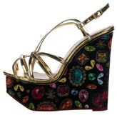 Charlotte Olympia Leather Wedge Sandals