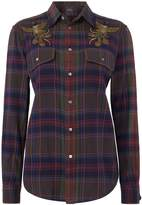 Polo Ralph Lauren Long sleeve embroidered checked shirt