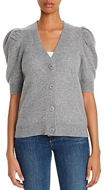 Bloomingdale's C by Cashmere Puff-Sleeve Cardigan - 100% Exclusive