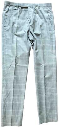 A.P.C. Grey Cotton Trousers