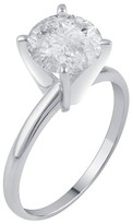 2.0 CT. T.W. IGL certified Round-cut Diamond Solitaire Prong Set Ring in 14K Gold (HI-I3)