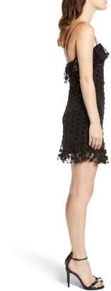 Rowa Sequin Dot Mini Dress