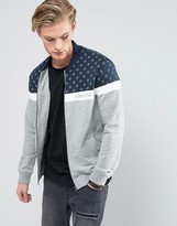 Converse Jersey Bomber Jacket With Dot Print In Grey 10003759-a01