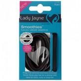 Lady Jayne Smoothies Luxury Velvet Elastics in Black 8 pack