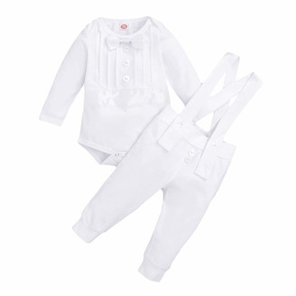 famuka Bebone Baby Boys Outfits Clothes Wedding Gentleman Romper Jumpsuit Bodysuit 12-18 Months, Grey