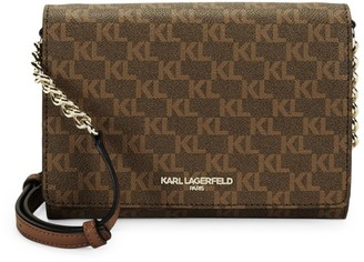 Karl Lagerfeld Paris Connie Logo Printed Crossbody Bag