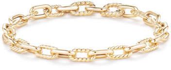 David Yurman 18k Madison Bold Chain Link Bracelet, Size Medium
