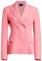 Akris Genaro Wool Twill Double-Breasted Jacket
