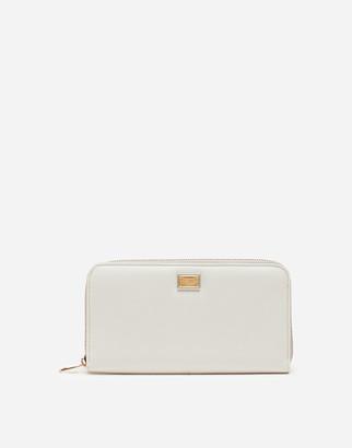 Dolce & Gabbana Zip-Around Dauphine Calfskin Wallet