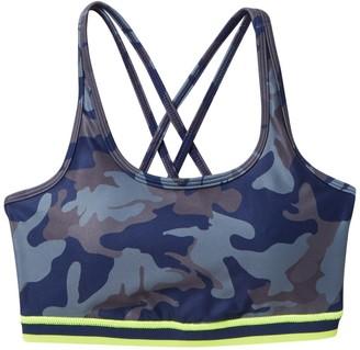 Wear It To Heart Strappy Printed Sports Bra