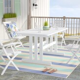 Beachcrest Home Araline Solid Wood Dining Table
