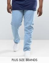 Duke Plus Jeans In Comfort Fit Bleach Wash