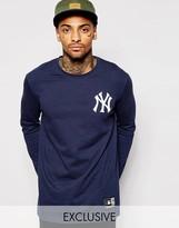Majestic Longline Long Sleeve Yankees T-shirt - Blue
