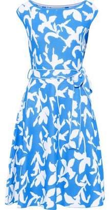 Carolina Herrera Belted Intarsia-knit Dress